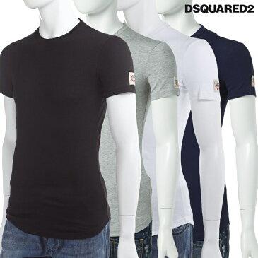 ディースクエアード DSQUARED2 Tシャツアンダーウェア Tシャツ 半袖 丸首 メンズ DCM370010 楽ギフ_包装 10%OFFクーポンプレゼント 【ラッキーシール対応】