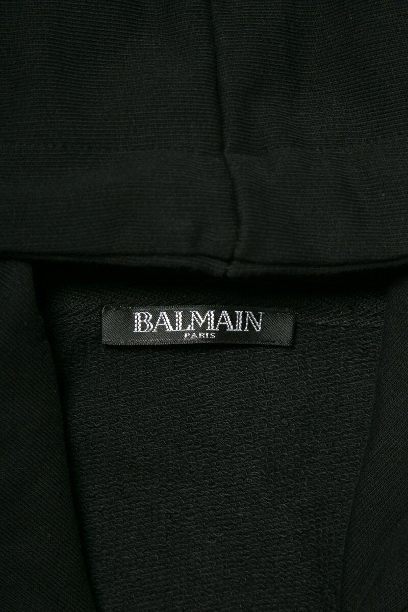 バルマン BALMAIN トレーナー ジップアップパーカー スウェット メンズ RH13658 J001 ブラック  楽ギフ_包装 2019年春夏新作 10%OFFクーポンプレゼント 上下別売 セットアップ上 【ラッキーシール対応】 2019SS_SALE