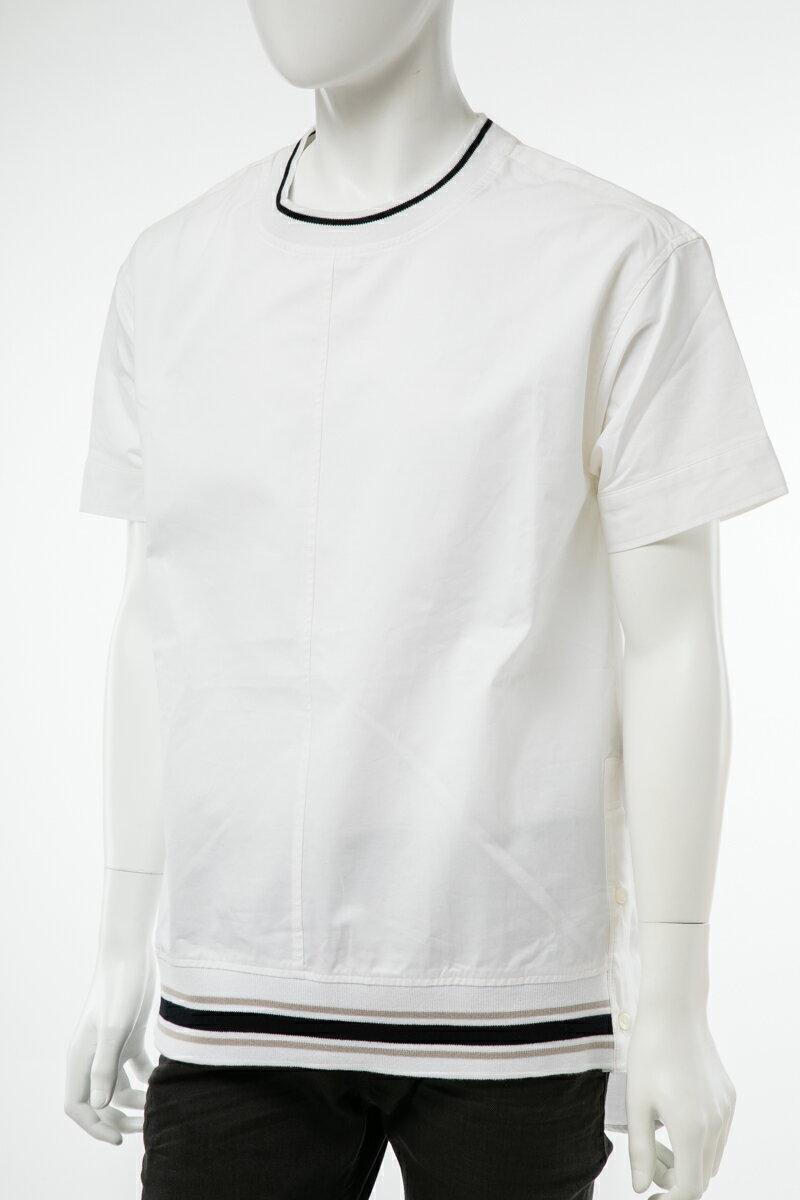 【お買い物マラソン 10%OFFクーポン配布】ディーゼル DIESEL Tシャツ 半袖 丸首 クルーネック メンズ 00S72J BGCOS ホワイト  楽ギフ_包装 10%OFFクーポンプレゼント 【ラッキーシール対応】