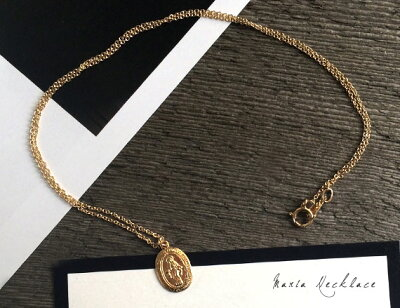 ��°����륮�� �ͥå��쥹��K14GF�ۥ��ꥸ���顦�ޥꥢ������ͥå��쥹��NECKLACE����