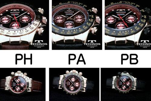 TECHNOSテクノス本革クロノグラフリミテッドメンズ腕時計T4161