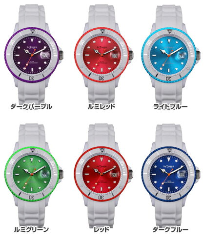 INTIMES(インタイムス)日本上陸ブランド!ホワイトシリコンバンドダイバーメンズ/レディース腕時計