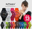 INTIMES インタイムス 44mm 防水 シリコン ラバー ダイバー メンズ レディース アナログ かわいい アウトドア カジュアル 腕時計 IT057