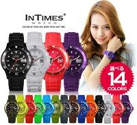 INTIMES(インタイムス)日本初上陸ブランド!40mmシリコンダイバーボーイズ/レディースサイズ腕時計選べる15色♪