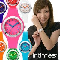 INTIMESインタイムスシリコンかわいいキッズ/レディース軽量防水腕時計IT093