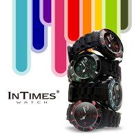 INTIMES(インタイムス)日本初上陸ブランド!迫力の44mmシリコンダイバーメンズ/レディース腕時計