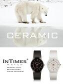 INTIMES インタイムス スーパースリム セラミックケース シリコンバンド スタイリッシュ 洗練されたデザイン メンズ/レディース 男女兼用 防水 腕時計 IT2101