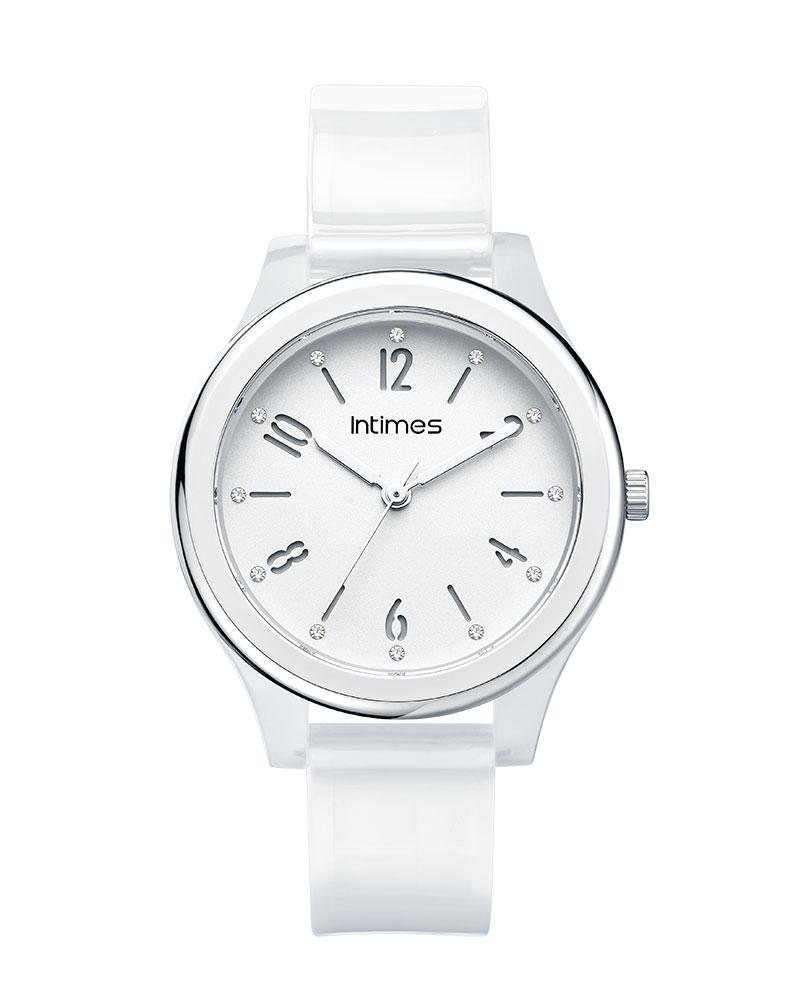 1a00884294 INTIMES インタイムス 軽量 防水 チェコストーン かわいい 36mm ポリウレタン レディース キッズ メンズ アナログ 腕時計 子供 ペア  家族 アウトドア ITCF095