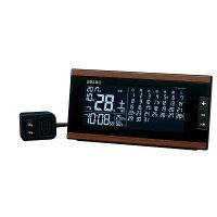 SEIKOCLOCKセイコークロック目覚まし時計置き時計電波時計デジタルDL212B月めくりカレンダー六曜表示セイコー目覚まし時計セイコー置き時計セイコー電波時計温度計湿度計おしゃれ【お取り寄せ】