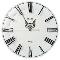 SEIKOCLOCK(セイコークロック)掛け時計ミッキーマウスミニーマウス電波アナログ大人ディズニー白FS506W【お取り寄せ】