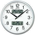 SEIKO セイコー 掛け時計 液晶表示付 オフィス 壁掛け 電波 KX235S カレンダー 温度計 湿度計 グリーン購入法適合 スイープ おしゃれ【お取り寄せ】
