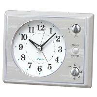 SEIKOCLOCK(セイコークロック)目覚まし時計アナログマルチサウンドアラーム白NR445W【お取り寄せ】