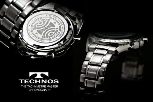 TECHNOSテクノス2011秋冬コレクションクロノグラフ限定モデルメンズ腕時計T2111SS