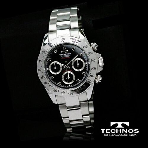 TECHNOSテクノスクロノグラフ限定モデルメンズ腕時計T4102SH