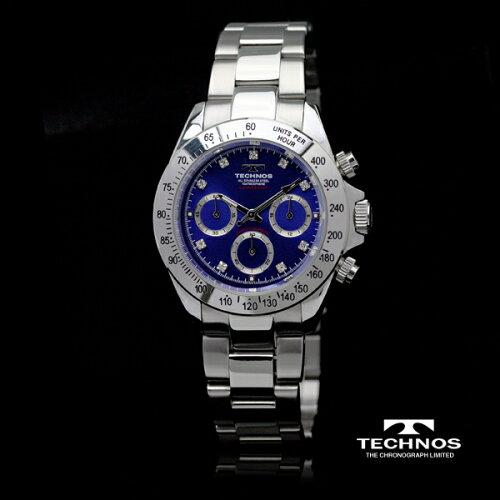TECHNOSテクノスクロノグラフ限定モデルメンズ腕時計T4102SN【バンド調整工具ブレゼント】