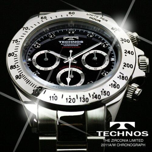 TECHNOSテクノス2010/11秋冬コレクションクロノグラフ当店限定モデルメンズ腕時計T4102SH