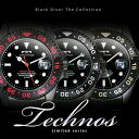 TECHNOS テクノス ブラック ダイバー メンズ 腕時計 T2171