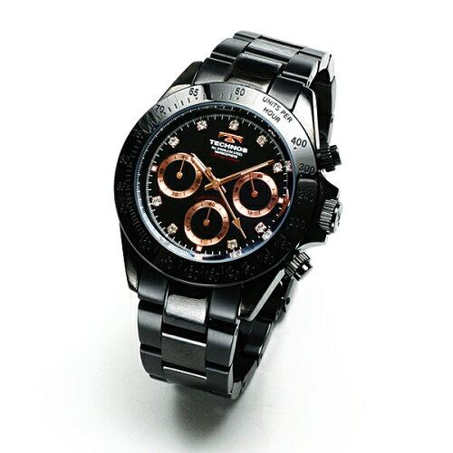TECHNOSテクノス2010/11秋冬コレクションクロノグラフ当店限定モデルメンズ腕時計T4102BP