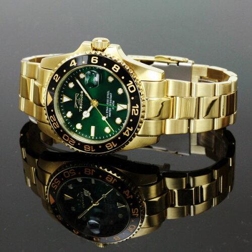 TECHNOSテクノス20111/12秋冬コレクションGMT限定モデルメンズ腕時計T2134GG