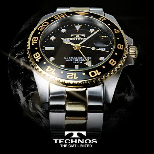 TECHNOSテクノス20111/12秋冬コレクションGMT限定モデルメンズ腕時計T2134TB