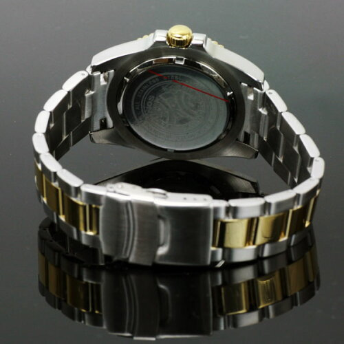 TECHNOSテクノス200m防水逆回転防止ベゼルダイバーウォッチGMT限定モデルメンズ腕時計T2134TG