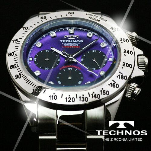 TECHNOSテクノスクロノグラフジルコニア・リミテッドメンズ腕時計T4102SU