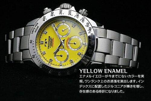 TECHNOSテクノスクロノグラフジルコニア・リミテッドメンズ腕時計T4102SY