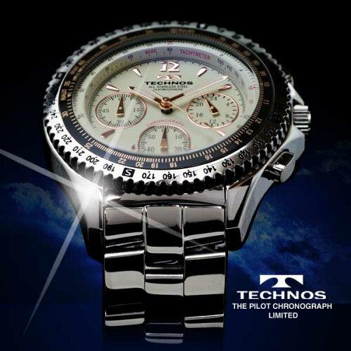TECHNOSテクノスパイロット・クロノグラフ限定モデルメンズ腕時計T4162SC