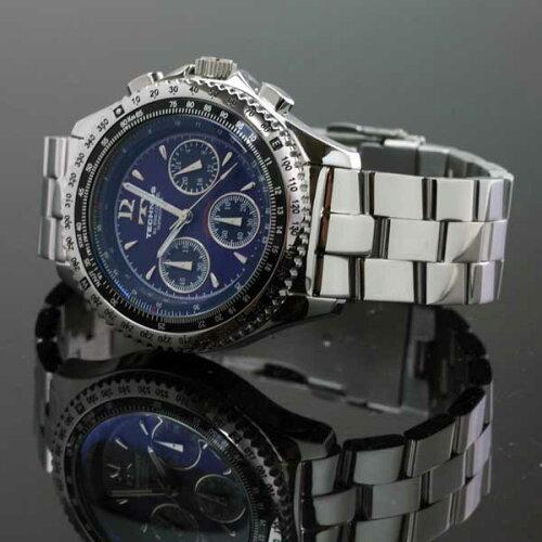 TECHNOSテクノスパイロット・クロノグラフ限定モデルメンズ腕時計T4162SN