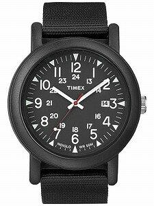 TIMEXタイメックスオーバーサイズキャンパーオールブラック腕時計T2N364
