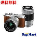 【送料無料】富士フイルム FUJIFILM X-A1 ダブルズームレンズキット [ブラウン] デジタル一眼レフカメラ【新品・国内正規品】(XA1)