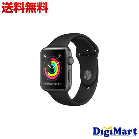 【送料無料】アップル Apple Watch Series 3 GPSモデル 42mm MTF32LL/A MTF32CL/A MTF32ZP/A [ブラックスポーツバンド]【新品・並行輸入品】