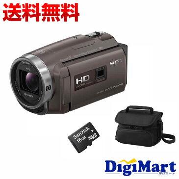 【送料無料】ソニー SONY HDR-PJ680 (TI) [ブロンズブラウン] ビデオカメラ + ビデオカメラバッグ + 16GB micro SDカード お買い得セット【新品・国内正規品】(HDRPJ680)