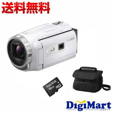 【送料無料】ソニー SONY HDR-PJ680 (W) [ホワイト] ビデオカメラ + ビデオカメラバッグ + 16GB micro SDカード お買い得セット【新品・国内正規品】(HDRPJ680)
