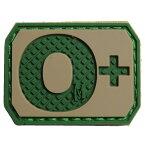 MAXPEDITION パッチ 血液型 +POS ベルクロ PVC製 [ アリッド / O+ ] マックスペディション ブロッドタイプ 陽性 Rh ミリタリーワッペン アップリケ 記章 ラバー ミリタリーパッチ スリーブバッジ