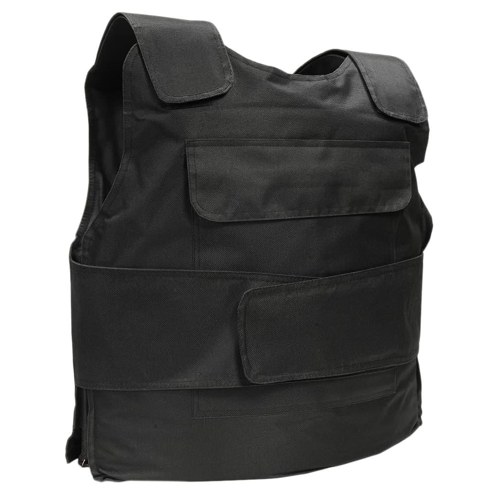 ボディプロテクター ソフトケース付き サイズ調整可能 ブラック ボディアーマー ベスト 防犯 訓練 フリーサイズ ナイロン 身体保護具 ボディーガード ボディガード画像
