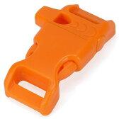 ホイッスルバックル 45×20mm [ オレンジ ] 笛