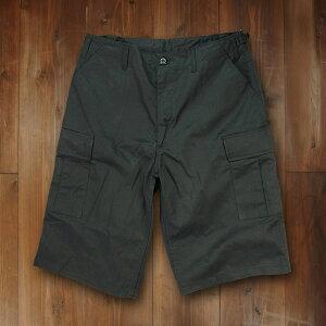Rothco ハーフカーゴパンツ BDUショーツ ジッパー [ ブラック / Sサイズ ] ミリタリーパンツ TDUパンツ BDUパンツ メンズボトム ハーフパンツ 半ズボン 半ずぼん