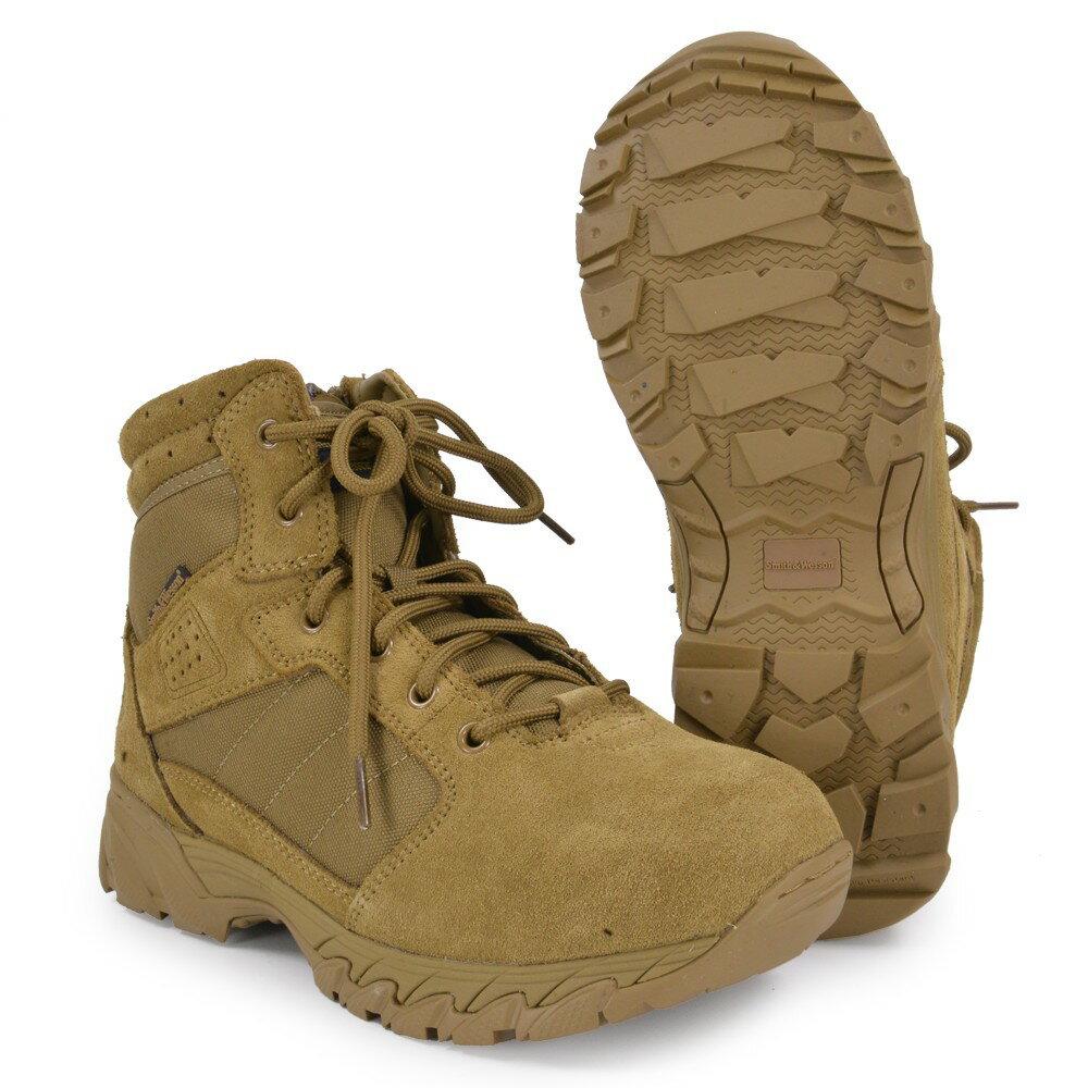 S&W タクティカルブーツ Breach サイドジップ コヨーテ [ 8-1/2W(約26.5cm) ] Smith Wesson ブリーチ Side Zip 軽量 通気性 コンバットブーツ 軍靴 半長靴 戦闘靴 ミリタリーブーツ サバゲーブーツ画像