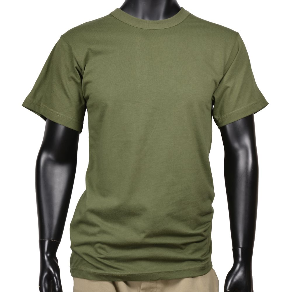 ロスコ 半袖Tシャツ 無地 コットン [ オリーブドラブ / Sサイズ ] Rothco メンズTシャツ 半そで プリント デザイン スポーツ ミリタリーTシャツ ミリタリーシャツ