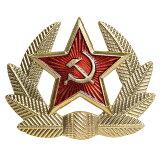 ロシア軍放出品 バッジ 帽章 ソ連標章 ウシャンカ用 実物 鎌と槌 ピンバッジ 襟章 胸章 ミリタリー 軍物 軍払い下げ品