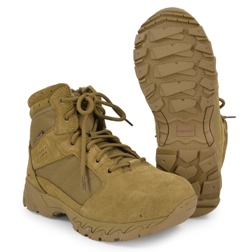 S&W タクティカルブーツ Breach サイドジップ コヨーテ [ 9W(約27.0cm) ] Smith Wesson ブリーチ Side Zip 軽量 通気性 コンバットブーツ 軍靴 半長靴 戦闘靴 ミリタリーブーツ サバゲーブーツ画像