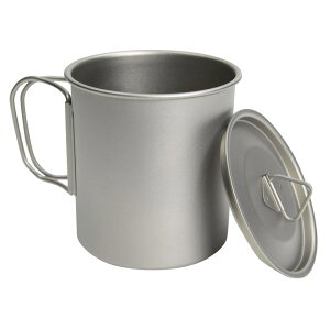 マグカップ 450ml チタン製 シングルマグ 蓋付きマグカップ 収納袋付き キャンティーンカップ コップ 水筒一重構造 シングル構造 アウトドア用品 登山用品 キャンプ用品 カトラリー 食器 保温 保冷
