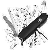 VICTORINOX アーミーナイフ スイスチャンプ ブラック | Victorinox ツールナイフ マルチツール 十徳ナイフ キャンピングナイフ 万能ナイフ