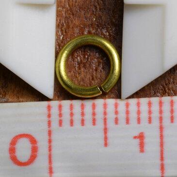 丸カン 真鍮 クラフトパーツ 線径1mm [ 6mm ] ハンドメイド アクセサリーパーツ ブラス レザークラフト ハンドクラフト 革紐細工