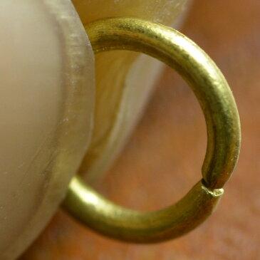 丸カン 真鍮 クラフトパーツ 線径1mm [ 7mm ] ハンドメイド アクセサリーパーツ ブラス レザークラフト ハンドクラフト 革紐細工