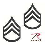 Rothco ピンバッジ 1604 米軍階級章 二等軍曹 ブラック 2個セット ピンズ ミリタリーバッジ ミリタリーバッチ 記章 徽章 襟章 肩章 胸章 袖章 臂章