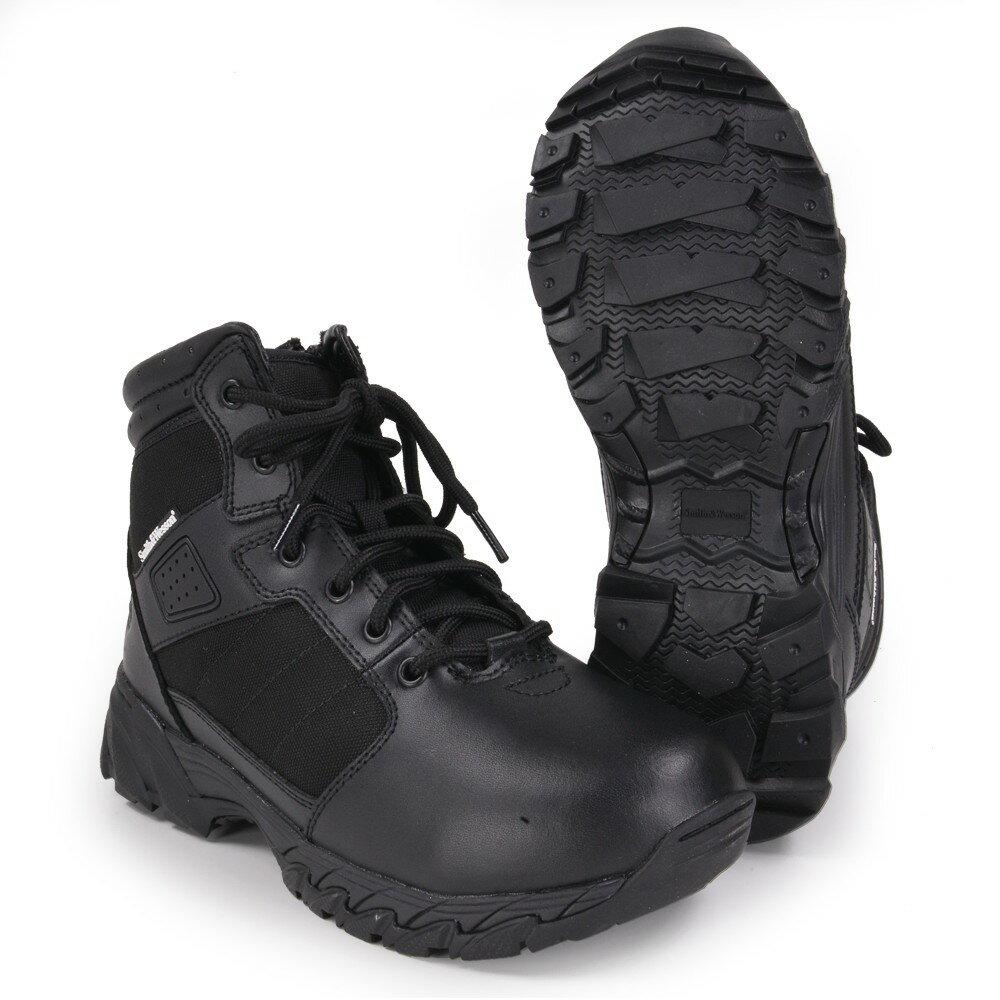 S&W タクティカルブーツ Breach サイドジップ ブラック [ 8-1/2W(約26.5cm) ] Smith Wesson ブリーチ Side Zip 軽量 通気性 コンバットブーツ 軍靴 半長靴 戦闘靴 ミリタリーブーツ サバゲーブーツ画像