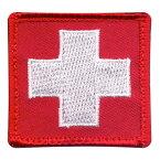Rothco ミリタリーワッペン 白十字 72205 ベルクロ スイス国旗 ミリタリーパッチ アップリケ 記章 徽章 襟章 肩章 胸章 階級章