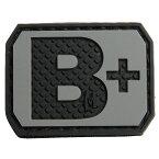 MAXPEDITION パッチ 血液型 +POS ベルクロ PVC製 [ SWAT / B+ ] マックスペディション ブロッドタイプ 陽性 Rh ミリタリーワッペン アップリケ 記章 ラバー ミリタリーパッチ スリーブバッジ